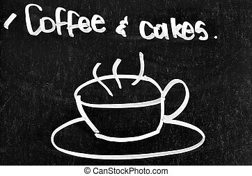 Coffee and cake sign and symbol
