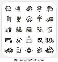 Logistics and Shipping icons set, EPS10, Don't use...