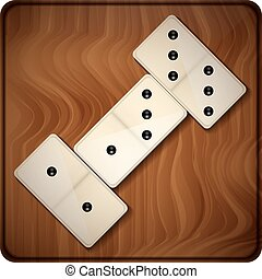 domino abstract vector illustration isolated on background...