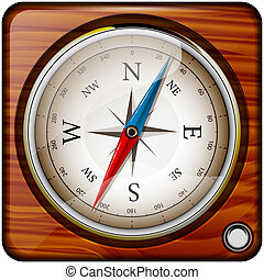 compass - Abstract vector illustration of a compass on a...
