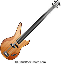 bass guitar - bass abstract vector illustration isolated eps...