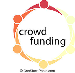 Crowd Funding People Circle Concept - Conceptual...