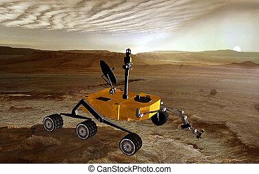 rover, planeta, Marte