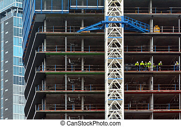 New Building Construction Site - MELBOURNE - APR 10 2014:New...