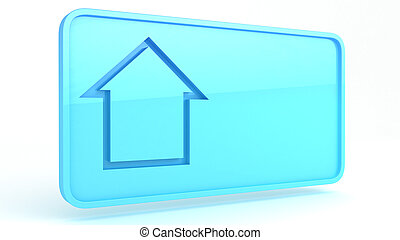 house sign - 3D illustration of a simple objects for use in...