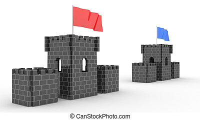 two castles with the flag competition 2 - two castles with...