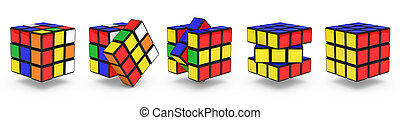 Rubik's Cubes for use in presentations, manuals, design,...