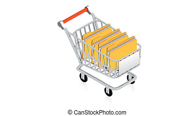 Shopping cart with item