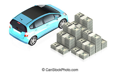 buy a new car - part of isometric collections of animated...