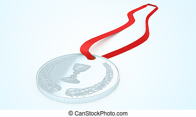 medals - 3D illustration of a simple objects for use in...