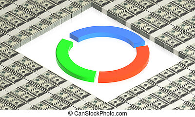 chart on paper dollars - part of isometric collections of...