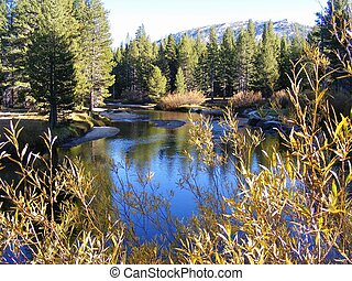 JENKS LAKE IN THE FALL - This lake is located in the San...