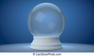 snowglobe - 3D image of a simple object for use in...