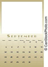 Monthly 2010 calendar - every month of the 2010 year...