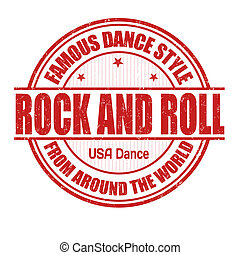 Rock and Roll stamp - Famous dance style, Rock and Roll...