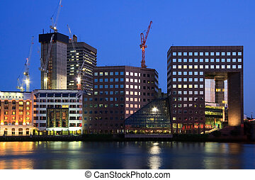 Southbank, London - Office buildings at Southbank at dusk