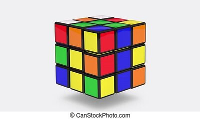 Rubik's Cubes loop animation - Rubik'sRubik's Cubes for use...