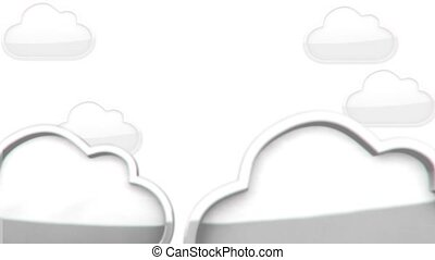 Internet Cloud animation - 3D animation of a simple objects...