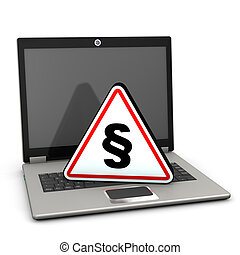 Laptop Attention Triangle Paragraph