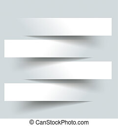 4 Paper Cutting Banners - 4 cutting banners on the grey...