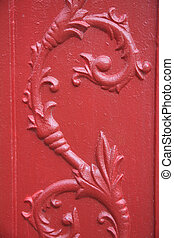 Iron Design Background - Close-up of fleur-de-lis cast iron...