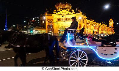 Flinders Street Station - Melbourne - MELBOURNE, AUS - APR...