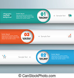Infographic 3 Lines Circle Holes - Infographic 2 lines with...