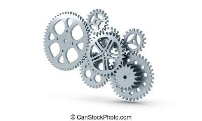 gears animation for use in presentations, manuals, design,...