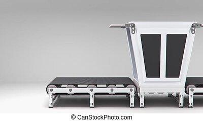 empty conveyor convector animation - empty conveyor...