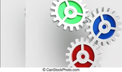 gear animation for use in presentations, manuals, design,...