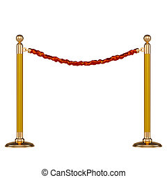 Ceremonial barrier on a white background