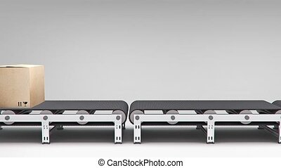 conveyor with carton animation for use in presentations,...