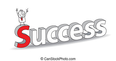 "Success - Word ""Success"" in a 3D style with Joe the..."