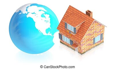Earth with house