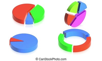 charts - 3D animation of a simple objects for use in...