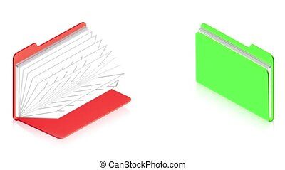 Two folders - 3D animation of a simple objects for use in...