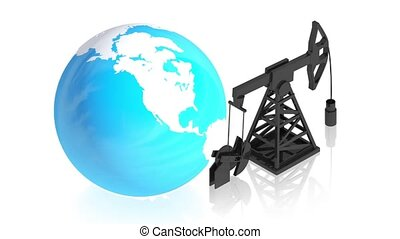 Oil with earth - 3D animation of a simple objects for use in...