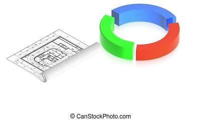 Chart with project - 3D animation of a simple objects for...