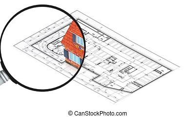 House with project - 3D animation of a simple objects for...
