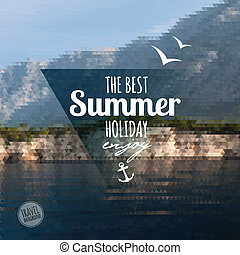 Creative graphic message for your summer design.Vector...