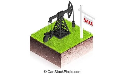 oil pump sale - 3D animation of a simple objects for use in...