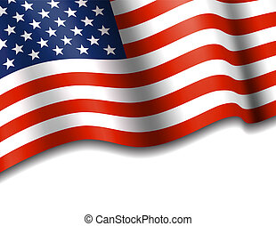 American Flag Waving - AMERICA Stars and Stripes