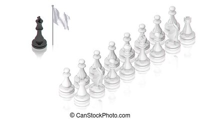 Chess battle - part of isometric collections of animated...