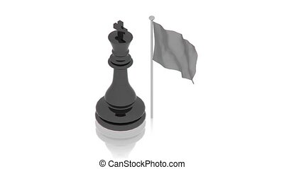 Black king with flag - part of isometric collections of...