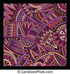 Abstract vector tribal ethnic background pattern - Abstract...