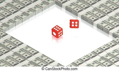 dice on dollars - part of isometric collections of animated...