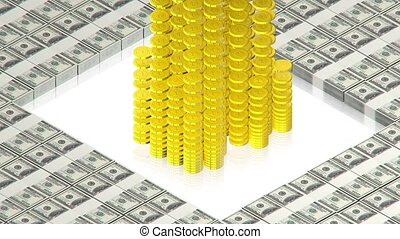 A lot of gold money - part of isometric collections of...