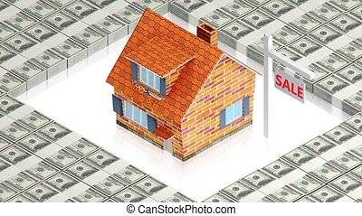 House sale with dollars - part of isometric collections of...