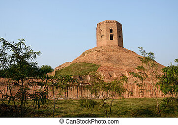 Holy buddhist Stupa in Sarnath,Indi - Holy buddhist...