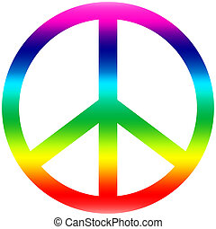 peace - A peace symbol in rainbow colors
